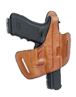 Fast-Draw Belt-Slide Leather Thumb-Break Holster