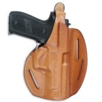 Fast-Draw dual angle leather holster.