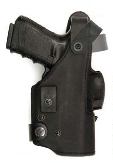 Thumb-spring KNG holster with Push 'n' Draw retention lock