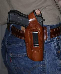 Fast-Draw Four-Way Leather holster for Baby Eagle/Jericho