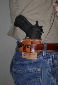 IWB Yammam Leather Holster on Belt Jericho/Baby Eagle