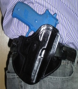 Deep Concealment Tuckable IWB holster on belt