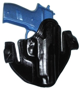 Deep Concealment Tuckable IWB holster - Black Leather
